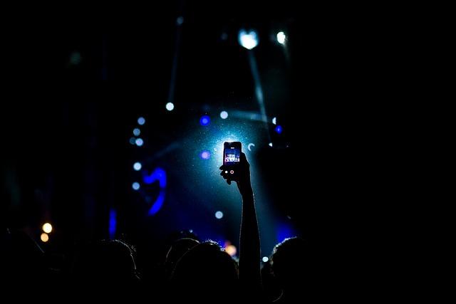 focení na koncertě