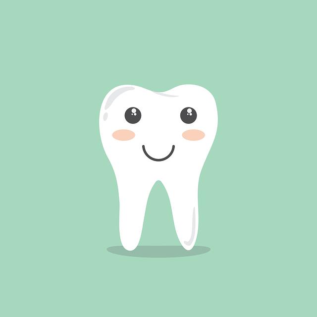 zub s úsměvem