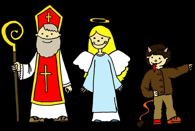 mikuláš, anděl a čert.png