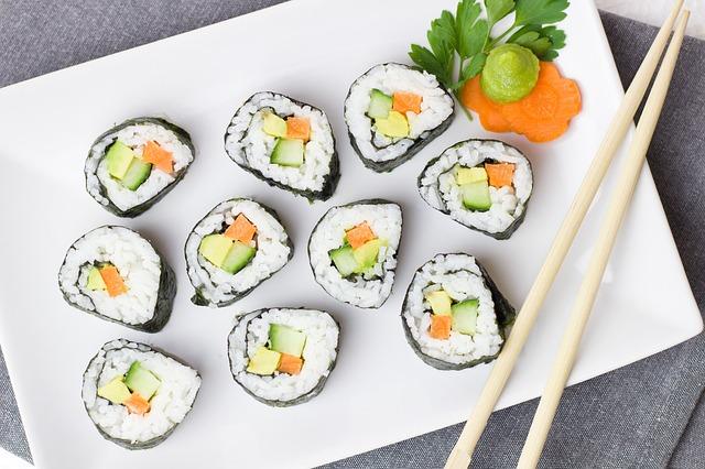 vegetariánské suši